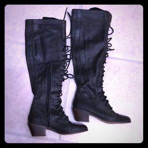 Jeffrey Campbell Free People Joe gray black boots